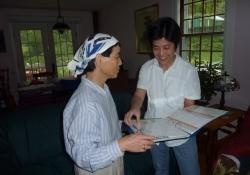 Eric and Takako with Japanese kids books